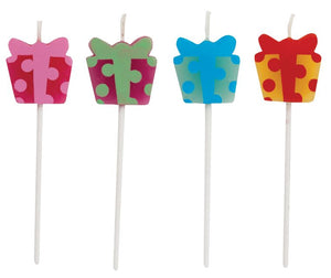 Candles Gift Shaped Molded Pick Sets - Pack of 48 Count