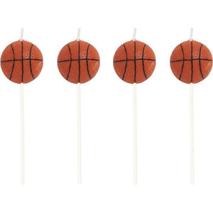 Sports Candles Basketball Molded Pick Sets - Pack of 48 Count