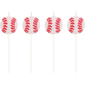 Sports Candles Baseball Molded Pick Sets - Pack of 48 Count
