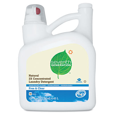 Seventh Generation® Natural 2X  Laundry Detergent, Free & Clear 150oz - Pack of 4 Count