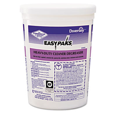 Diversey® Easy Paks HVY DTY Cleaner/Degreaser, Powder, 1.5 oz. Pac - Pack of 72 Count