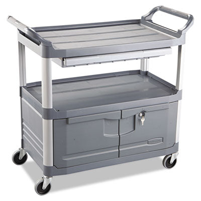Rubbermaid® Commercial Xtra Instrument Cart, 300-lb Cap., 3 Shelf - Pack of 1 Count