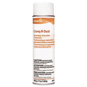 Diversey™ Conq-r-Dust Dust Mop/Dust Cloth Treatment,  17oz Aerosol - Pack of 12 Count