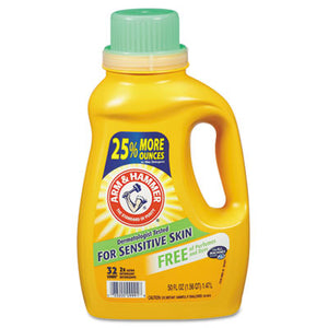 Arm & Hammer™ HE Compatible Liquid Detergent, Unscented, 50oz - Pack of 8 Count