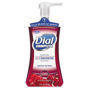 Dial® Antimicrobial Foaming Hand Soap, Power Berries, 7.5oz Pump - Pack of 8 Count