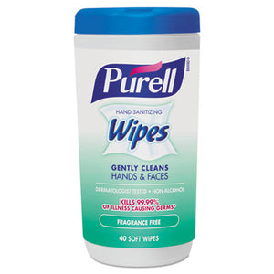 PURELL® Hand Sanitizing Wipes, 6 x 7 Fragrance Free - Pack of 6 Count