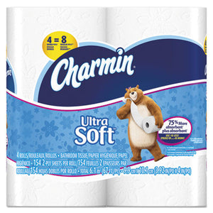 Charmin® Ultra Soft Bathroom Tissue, 2-Ply, 4 x 4 - Pack of 40 Count