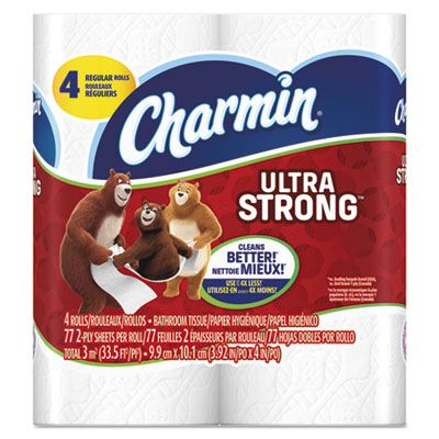 Charmin® Ultra Strong Bathroom Tissue, 2-Ply, 4 x 4 - Pack of 96 Count