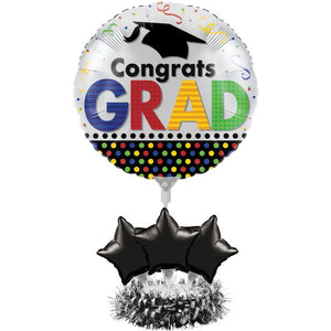 Air Filled Balloon Centerpiece Kits Graduation Dots - Pack of 4 Count