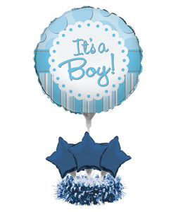 Air Filled Balloon Centerpiece Kit, It's a Boy - Pack of 4 Count