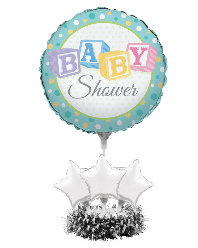 Air Filled Balloon Centerpiece Kit, Baby Shower - Pack of 4 Count