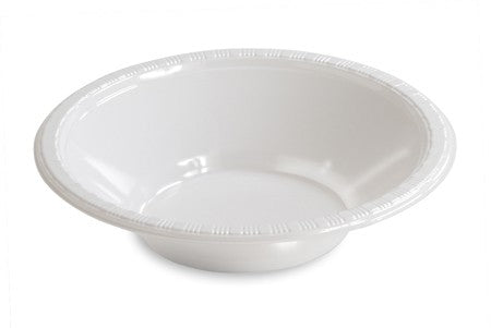 White Plastic Bowl 12 oz, Bulk - Pack of 600 Count