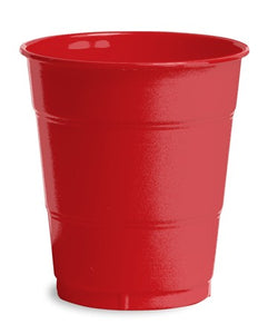 Classic Red Plastic Cups, 12 Oz - Pack of 240 Count