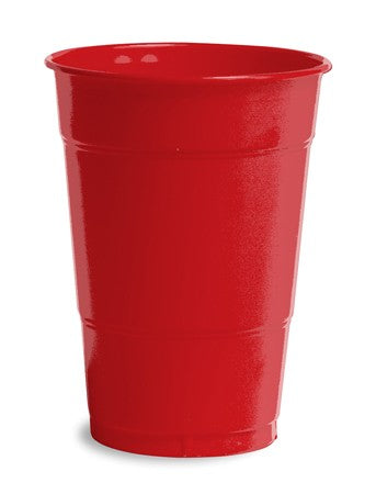 Classic Red Plastic Cups, 16 Oz, Bulk - Pack of 600 Count