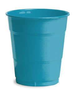 Turquoise Plastic Cups, 12 Oz - Pack of 240 Count
