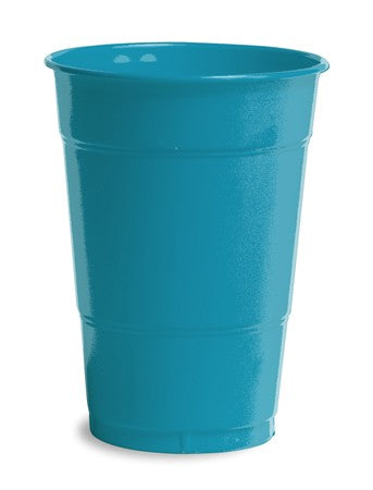 Turquoise Plastic Cups, 16 Oz - Pack of 240 Count