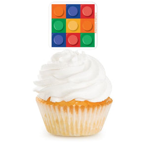 Cupcake Topper Block Party - Pack of 144 Count