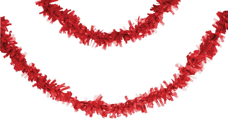 Tissue Garland, 25', Classic Red - Pack of 12 Count
