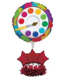Art Party Air Filled Balloon Centerpiece Kit - Pack of 4 Count
