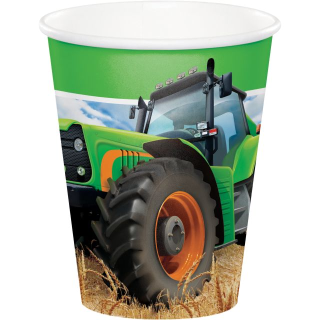 Tractor Time 9 oz Hot/Cold Cups - Pack of 96 Count