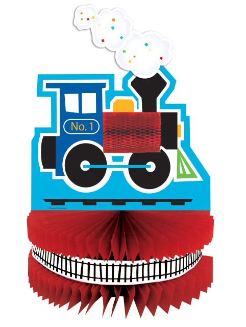 All Aboard Centerpiece HC Shaped - Pack of 6 Count