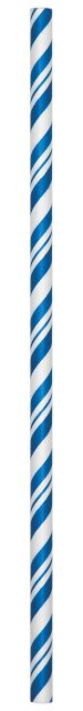Decor Straws PR Stripe Cobalt/Wh - Pack of 144 Count