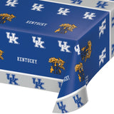 "University of Kentucky Table Covers Plastic 54""x108"" - Pack of 12 Count"