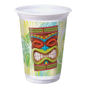 TIKI TIME PRINTED PLASTIC CUP 16OZ. - Pack of 96 Count