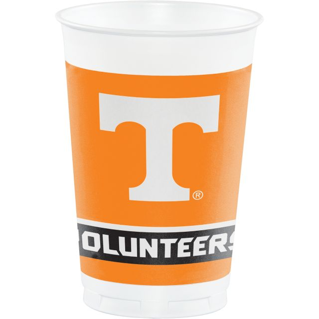 UNIV OF TENNESSEE, KNOXVILLE 20 OZ PLASTIC CUPS - Pack of 96 Count