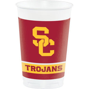 UNIV OF SOUTHERN CALIFORNIA 20 OZ PLASTIC CUPS - Pack of 96 Count