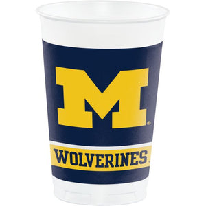 UNIVERSITY OF MICHIGAN PLASTIC CUPS 20 oz. - Pack of 96 Count