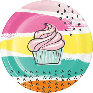 CHIC CUPCAKE LUNCHEON PLATE - Pack of 96 Count