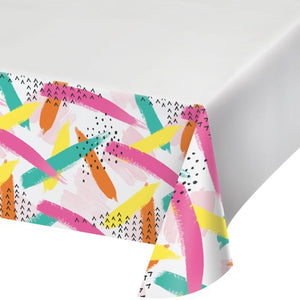 "CHIC CUPCAKE PLASTIC TABLECOVER 48"" X 88"" - Pack of 12 Count"