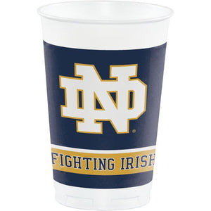 UNIV OF NOTRE DAME 20 OZ PLASTIC CUPS - Pack of 96 Count