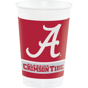 University of Alabama Plastic Cups, 20 Oz - Pack of 96 Count