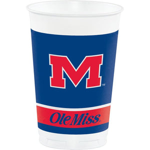 University of Mississippi Plastic Cups, 20 Oz - Pack of 96 Count
