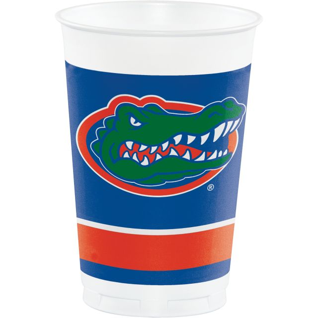 University of Florida Plastic Cups, 20 Oz - Pack of 96 Count
