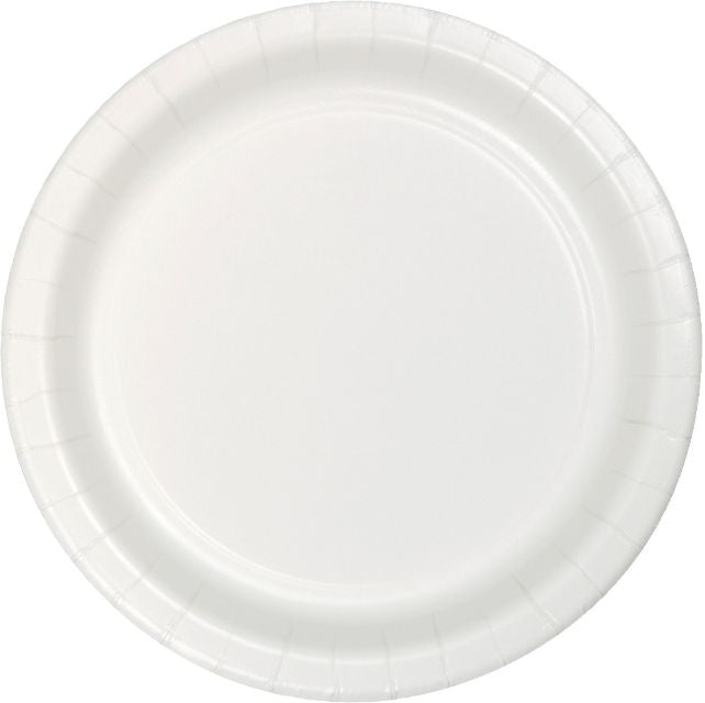 "White Plates 9"" Paper Dinner - Pack of 240 Count"