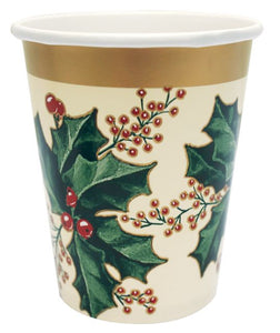 Winter Holly Hot/Cold Cups 9 oz - Pack of 300 Count