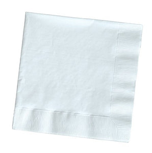 White Dinner Napkins, 3-Ply, 1/4 Fold - Pack of 250 Count