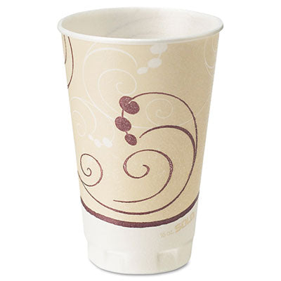 Trophy Insulated Thin-Wall Foam Cups, 16 oz, Hot/Cold, Symphony - Pack of 750 Count