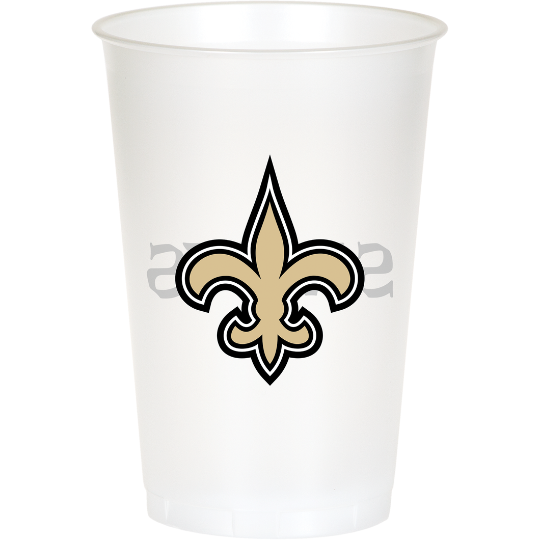 NEW ORLEANS SAINTS PLASTIC CUPS - Pack of 96 Count