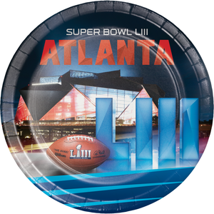 SUPER BOWL LIII PAPER PLATES - Pack of 96 Count