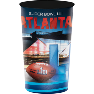 SUPER BOWL LIII 22 OZ PLASTIC CUP - Pack of 20 Count