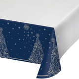 SILENT NIGHT PLASTIC TABLECLOTH - Pack of 12 Count