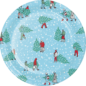 HOME FOR THE HOLIDAYS PAPER PLATES - Pack of 96 Count