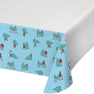 HOME FOR THE HOLIDAYS PLASTIC TABLECLOTH - Pack of 12 Count