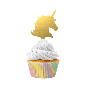 UNICORN SPARKLE CUPCAKE KIT - Pack of 72 Count