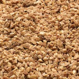Azar Topping Roasted Salted Peanut Pieces 2.5lb. - Pack of 6 Count
