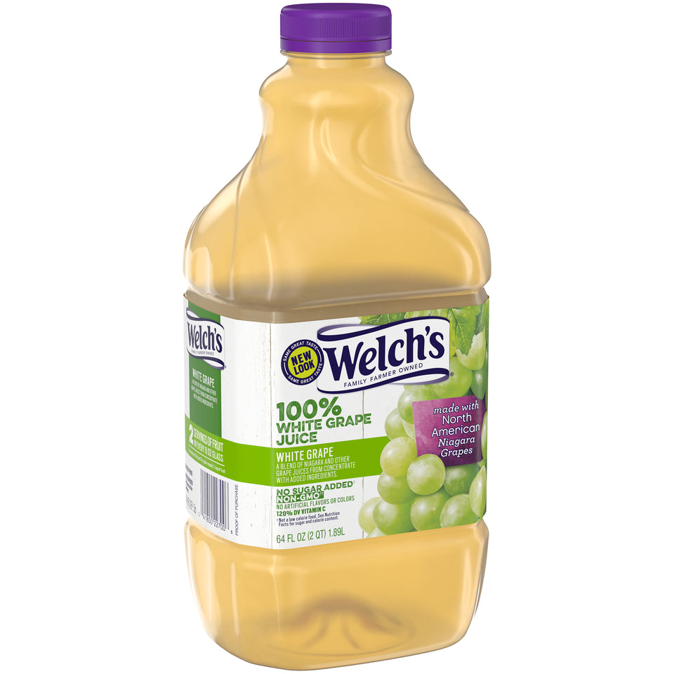 Welch's White Grape Juice 64oz. - Pack of 8 Count